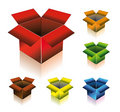 Three Dimensional Box with Shadow Royalty Free Stock Photo