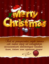 Three-dimensional Christmas Lettering Royalty Free Stock Photos