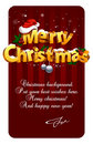 Three-dimensional Christmas Lettering Royalty Free Stock Images