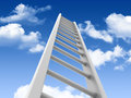 Three dimensional illustration stair sky Stock Photo