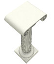 Three dimensional ionic marble column top illustration Royalty Free Stock Images