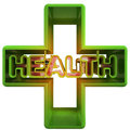 Three dimensional medical cross advertising banner illustration Royalty Free Stock Photos