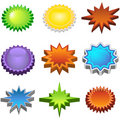Three Dimensional Starburst Stickers Stock Photos