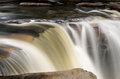 Three distinct waterfalls at High Falls of Cheat Royalty Free Stock Photo