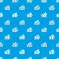 Three dollar bills pattern seamless blue