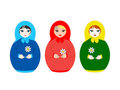 Three dolls Matryoshka Stock Image