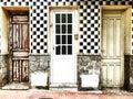 Three doors in Torrevieja Royalty Free Stock Photo
