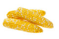 Three ears of corn isolated on a white background Royalty Free Stock Photography