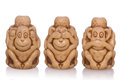 Three-Faced toy monkey Royalty Free Stock Photo