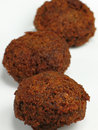 Three Falafels Royalty Free Stock Photography