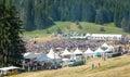 Three Festival Rozhen in Bulgaria. Lunch Royalty Free Stock Photo