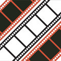 Three Filmstrips Royalty Free Stock Photography