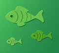 Three fishes abstract background of cut out eps Stock Image