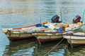 Three fishing boats in Bahrain Royalty Free Stock Photo