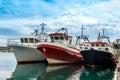 Three Fishing Boats Royalty Free Stock Photo