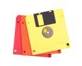 Three floppy disk. Royalty Free Stock Photo