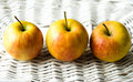 Three Fresh Apples Stock Images