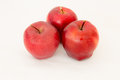 Three Fresh red apple  on white. Royalty Free Stock Photo