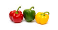Three fresh sweet pepper Royalty Free Stock Photo