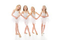 Three funny ballet dancers Royalty Free Stock Photography