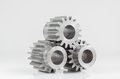Three gears on isolated Royalty Free Stock Photo