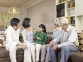 Three generation family asian at home Royalty Free Stock Photos