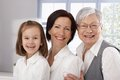 Three generations of happy women mother grandmother and little girl Royalty Free Stock Photos