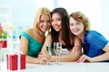 Three girlfriends Royalty Free Stock Photo