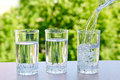 Three glasses of water Royalty Free Stock Photo