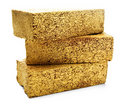 Three Gold Bricks Royalty Free Stock Photo