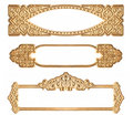 Three Golden Embossed Frames Stock Photos