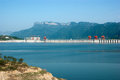 Three gorges dam impoundment views Stock Image
