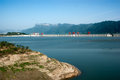 Three gorges dam impoundment views Stock Images