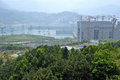 Three gorges dam in the yangtze river Royalty Free Stock Photography