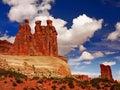 Three Gossips, Arches National Park, Utah Royalty Free Stock Photo