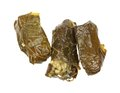 Three Grape Leaves Filled Rice Royalty Free Stock Photo