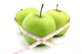 Three green apple Royalty Free Stock Photo