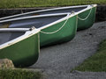 Three Green Boats Royalty Free Stock Image