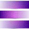 Three halftones banners with halftone design on white background Stock Image