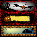 Three Halloween banners Royalty Free Stock Photography