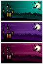 Three halloween banners vector eps Royalty Free Stock Photo