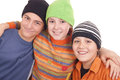 Three Happy Teenagers Stock Images