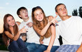 Three happy young teenagers Royalty Free Stock Photos