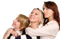 Three happy young women posing Royalty Free Stock Images
