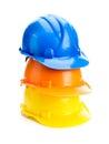 Three hard hats Royalty Free Stock Photo