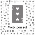 Three hearts icon. web icons universal set for web and mobile