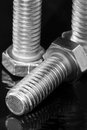 Three Hex Bolts Royalty Free Stock Photo