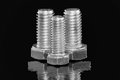 Three Hex Bolts Stock Photography