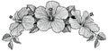 Three hibiscus flower bouquet