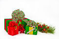 Three Holiday Presents Royalty Free Stock Image